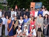 Visual-Art-performer-team-at-ZAM,-Port-Blair
